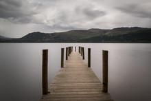 High Brandelhow Jetty On Derwent Water In The Lake District