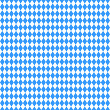 Seamless Abstract Geometric Oktoberfest And Bavarian Flag Pattern. Vector Illustration For October Festival, Traditional Blue And White Background Colors. For Banner, Print, Promotion, Flyer, Poster