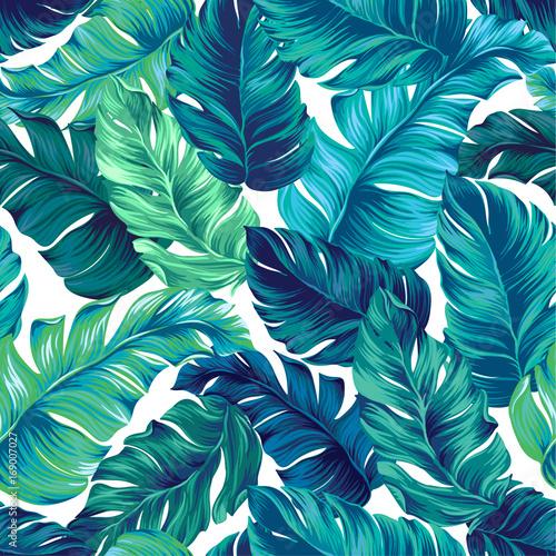 Αφίσα  vector tropical palm seamless pattern. amazing vintage style.
