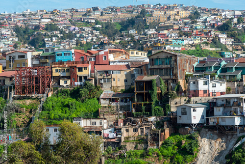 Tuinposter Athene View over the colorful houses of Valparaiso in Chile