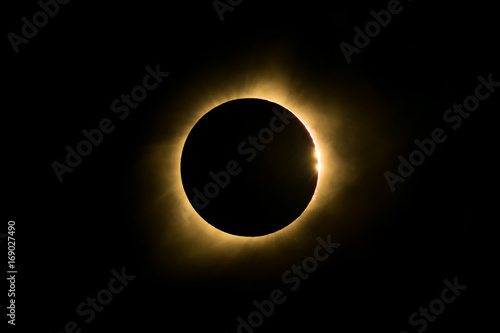 Total Solar Eclipse with Bailey Beads and Prominence Poster