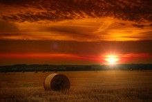 The Sun Over The Straw Bales