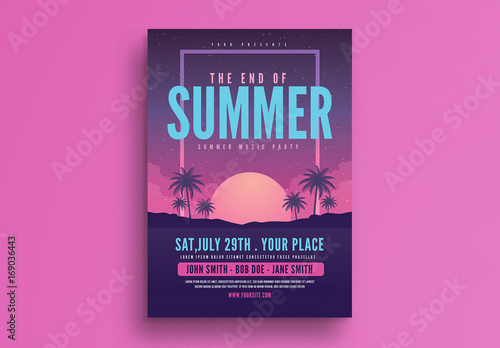 end of summer party flyer layout buy this stock template and