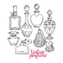 Womens Sketch Perfume Bottles