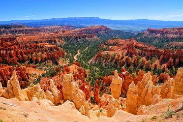 Bryce Canyon National Park view over the hoodoos at Inspiration Point, Utah, USA