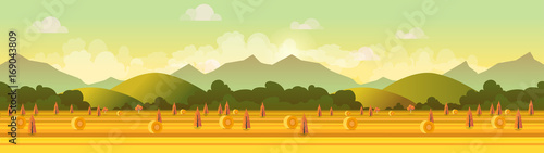 Farm panorama. Vector illustration for your design