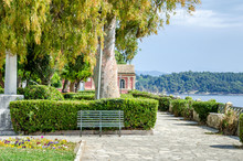Boschetto Park Or Boschetto Garden In Corfu Town, Greece.