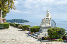 Statue Of Guilford In The Boschetto Park In Corfu Town