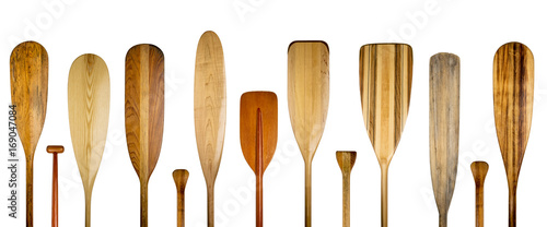 Fotografering wood canoe paddles abstract banner