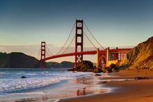Golden Gate Bridge - Sunset Baker Beach