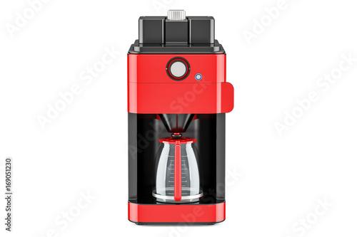 Red modern coffeemaker or coffee machine, 3D rendering Tapéta, Fotótapéta