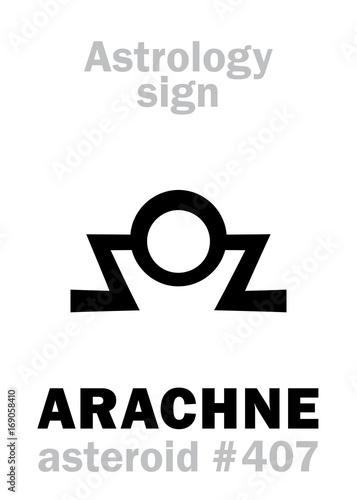 Fotografie, Obraz Astrology Alphabet: ARACHNE, asteroid #407
