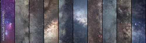 Space collage. Astronomy collage. Astrophotography collage. universe. Long exposure photography.