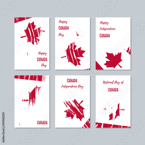 Canada patriotic cards for national day expressive brush stroke in canada patriotic cards for national day expressive brush stroke in national flag colors on white m4hsunfo