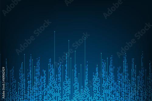 Obraz Vector abstract background technology digital design. - fototapety do salonu