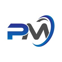 Vector Initial Logo Letters Pm...