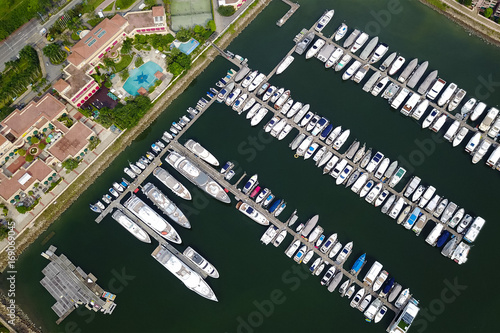Photo  Aerial view of typhoon shelter tuen mun