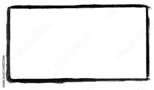 Photo  Handgemalter Rahmen aus schwarzer Farbe