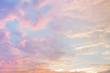 Leinwandbild Motiv Abstract color pastel background, A soft sky with cloud background in pastel color