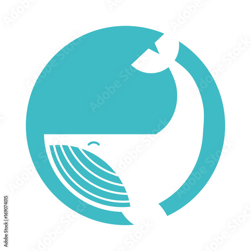Humpback Whale isolated icon vector illustration design Poster