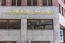 School Of Law Sign On Building...