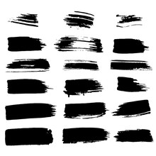 Vector Thick Brushes. Hand Dra...