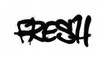 graffiti tag fresh sprayed with leak in black on white