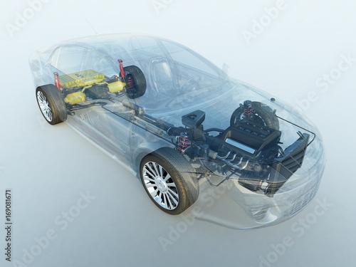 Hybrid Elektro Benzin fahrzeug