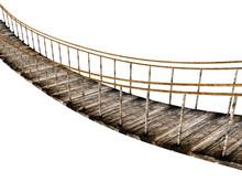 Old Wooden Suspended Bridge Is...