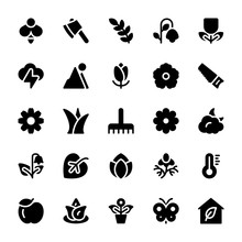 Nature And Ecology Solid Icons 2