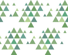 Pine Forest Simple Seamless Pattern Background. Vector Illustration Of Coloured Christmas Trees.