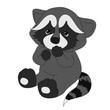 cute raccoon vector requests illustration