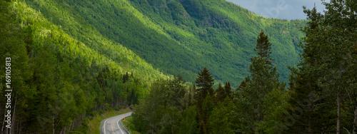 Keuken foto achterwand Heuvel Driving through a mountain range in Gaspe, Quebec