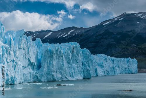 Perito Moreno glacier under the clouds