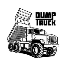 Tipper Truck Illustration Isol...