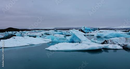 Poster Glaciers Glacier lagoon