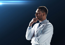 Doctor Or Scientist In White Coat