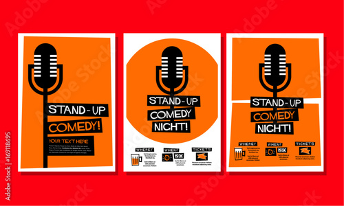 Stampa su Tela  Stand-up Comedy Poster Template