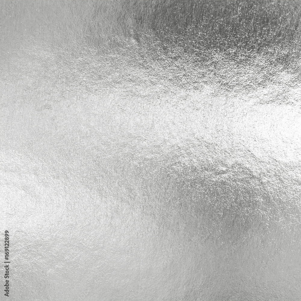 Fototapety, obrazy: Silver foil shiny metallic texture background wrapping paper for wallpaper decoration element