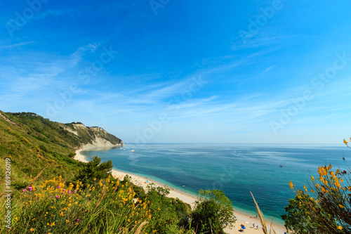 Summer Adriatic sea Mezzavalle beach Wallpaper Mural