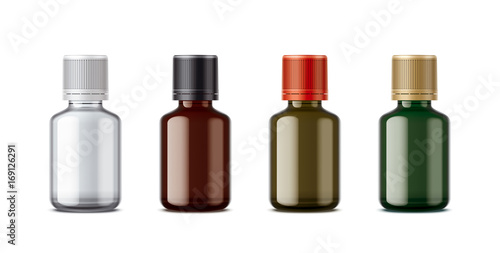 Medicine bottles mockup. Small size. Canvas Print