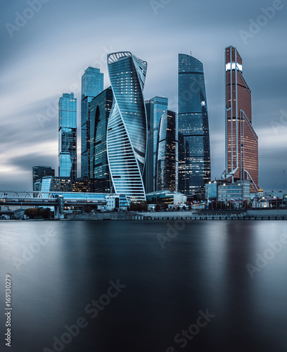 Fotografía  View at Moscow-city skyscrapers in the business district of the Russian capital