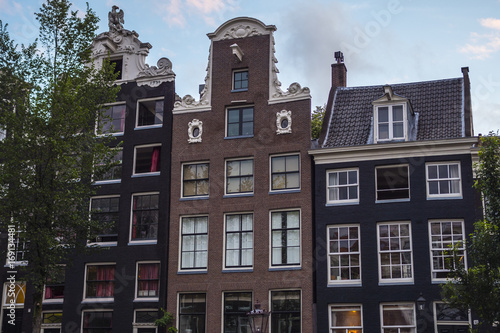 Photo  Typical buildings in the city of Amsterdam