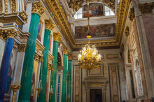 Decoration Details In The Interior Of The St Isaac Cathedral In St Petersburg, Russia