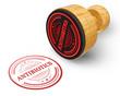 Antibiotics red grunge round stamp isolated on white Background