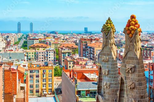Foto op Canvas Barcelona Cityscape in Barcelona, Spain