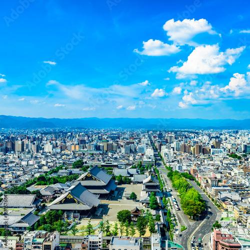 Foto op Aluminium Blauw 都市風景 京都 展望