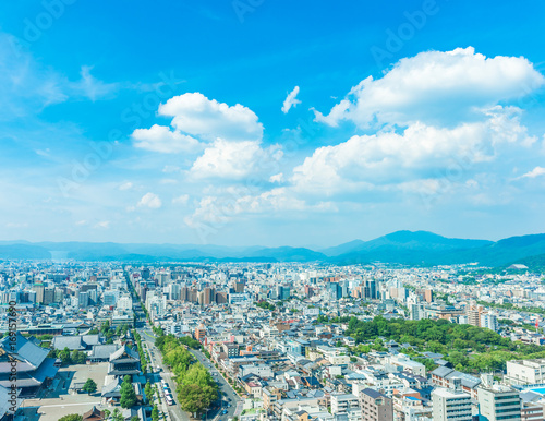Photo sur Aluminium Kyoto 都市風景 京都 展望