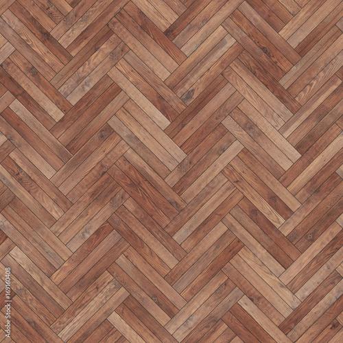 Obraz Seamless wood parquet texture herringbone brown - fototapety do salonu
