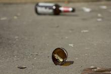 Broken Bottles And Cigarette B...